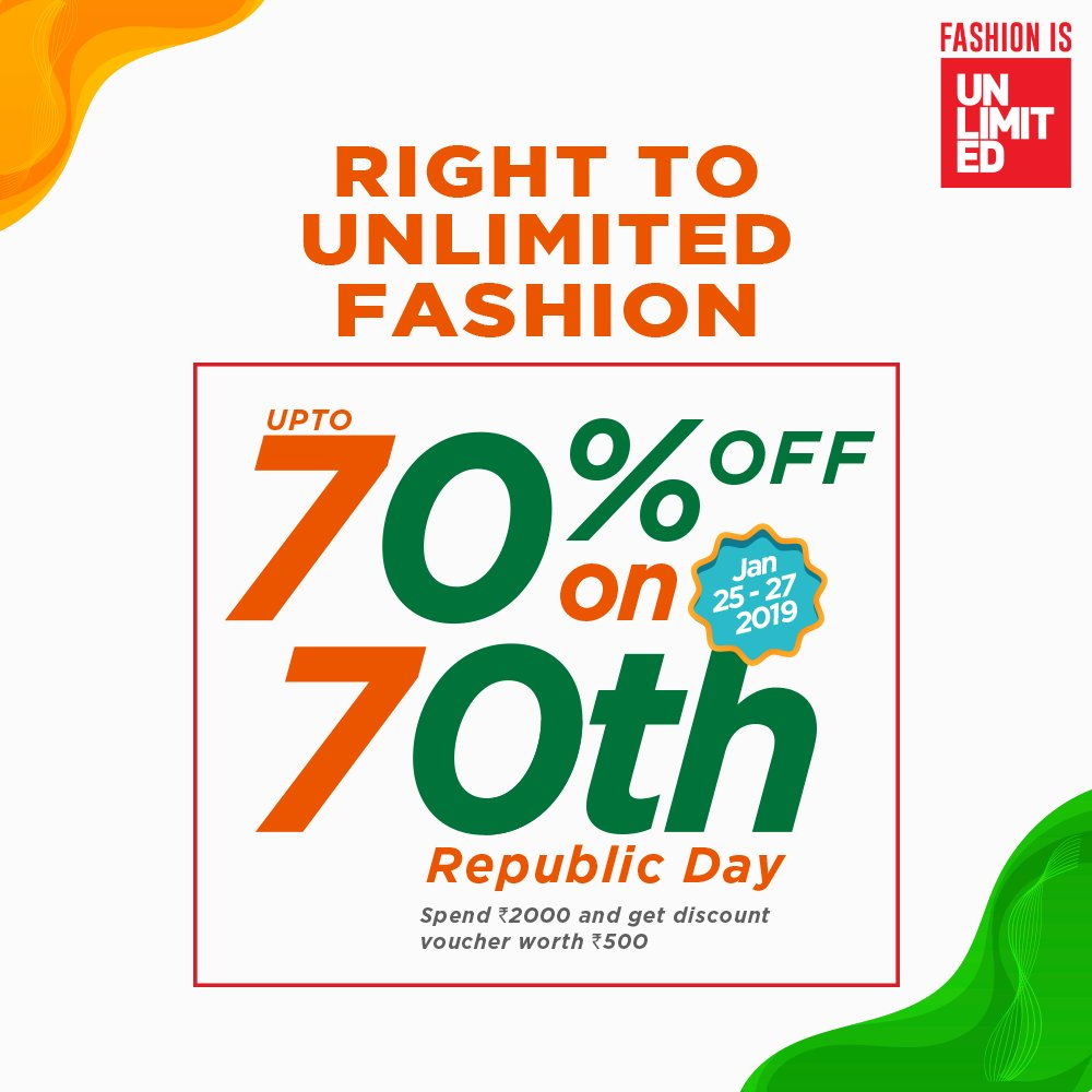 Sarath City Capital Mall On Twitter Get A Steal Deal Of A Whopping Up To 70 Off On Select Apparel And Accessories From 25th 27th Jan Rush To The Unlimited Family