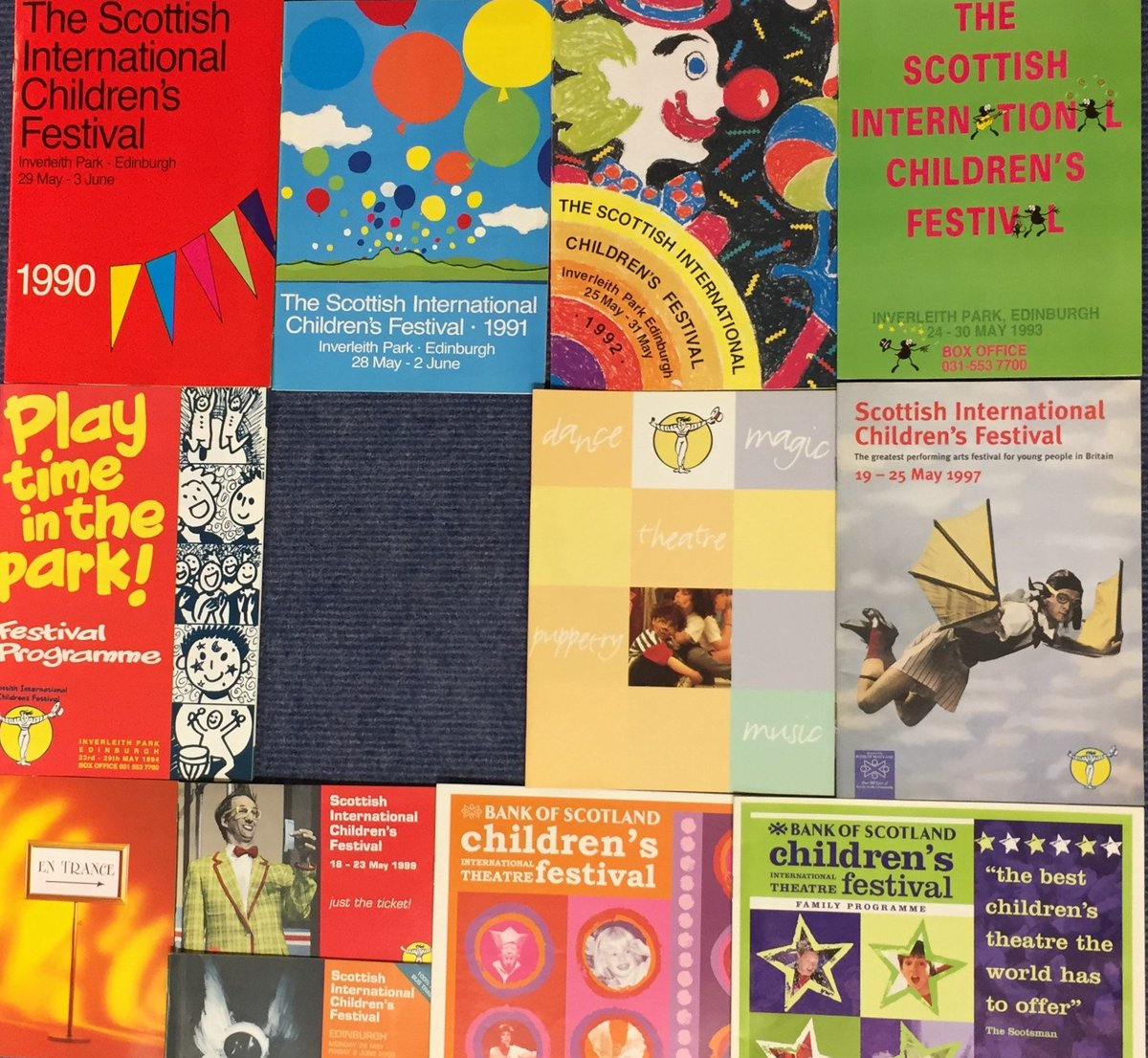 Our wonderful Festival programme archive has a hole! 1995 is missing. Do you have a copy you'd be happy to donate to us? We'll give you a family ticket in return :) #Imaginate30  #TBT #ThrowbackThursday