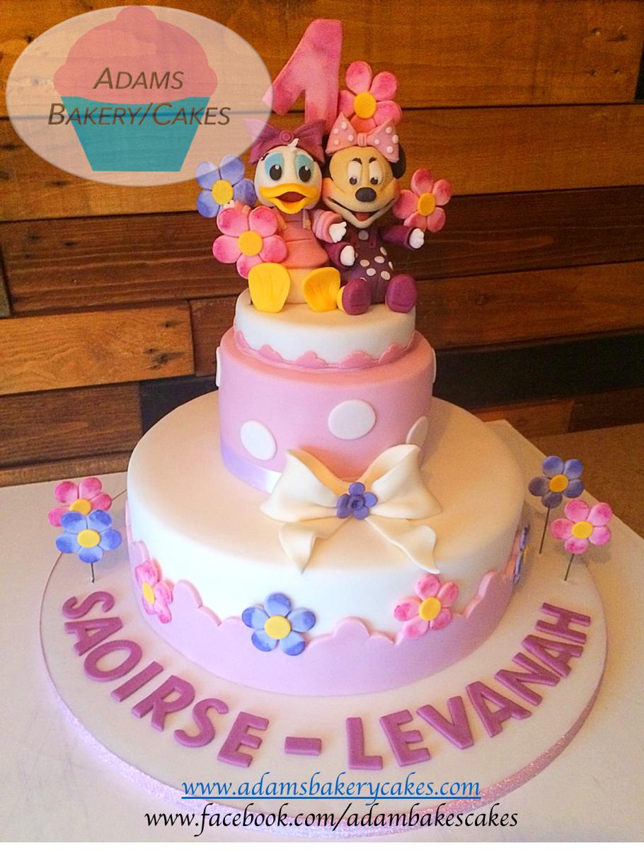 Marvelous Adams Bakery Cakes Twitter 2 Tier Daisy And Minnie Cake Personalised Birthday Cards Vishlily Jamesorg