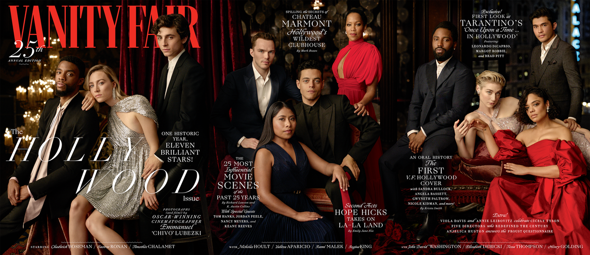 "The 25th Vanity Fair Hollywood Issue is here. V.F. teamed up with three-time Academy Award–winning cinematographer Emmanuel ""Chivo"" Lubezki to capture, in eloquent motion, the Hollywood of today and tomorrow #VFHollywood http://vntyfr.com/GJrhmBk"