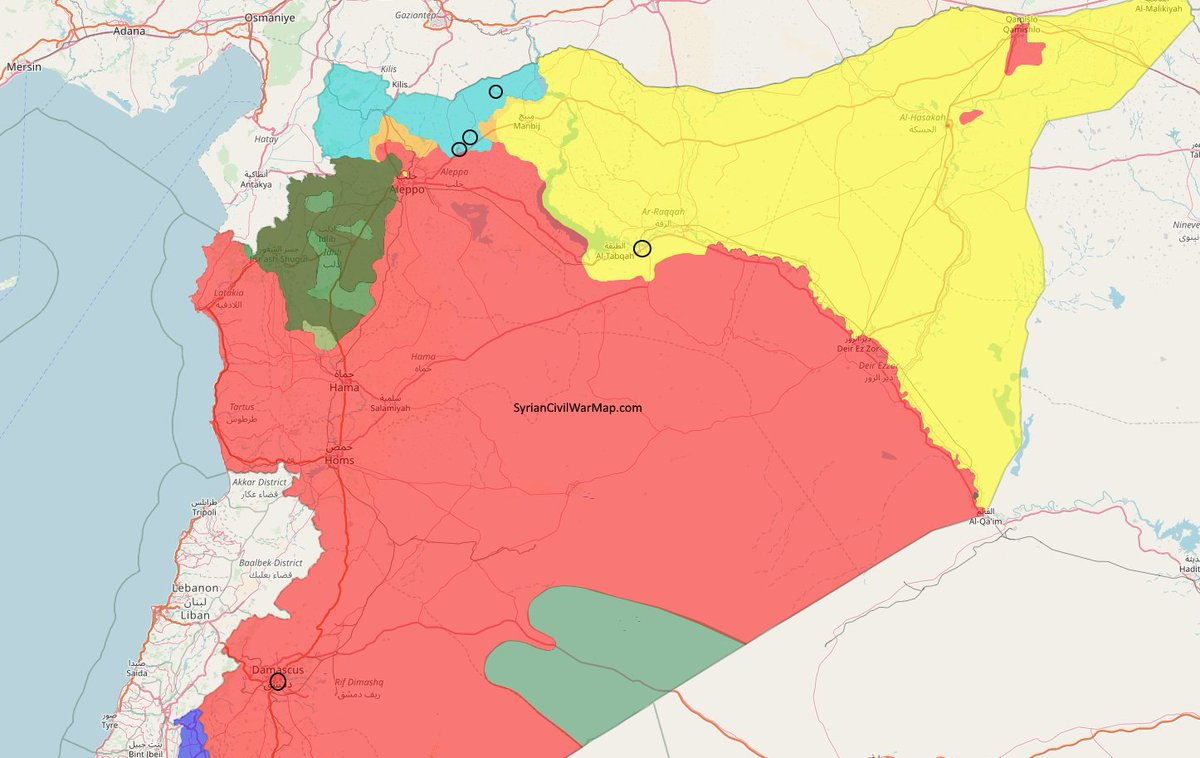 Syrian Civil War Map on Twitter: