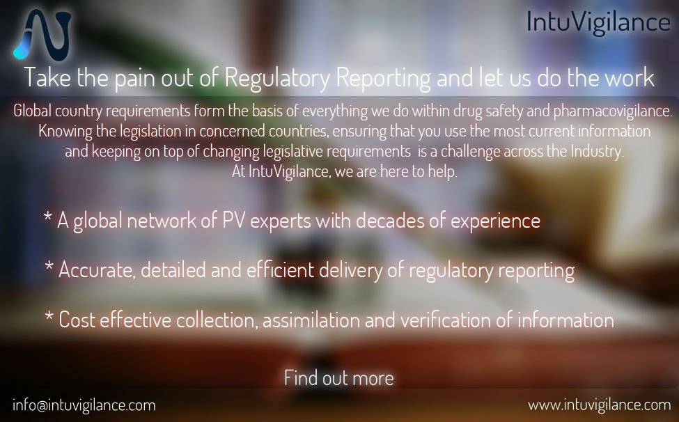 Find out how @IntuVigilance can help you with global Regulatory Requirements. Find out more: info@intuvigilance.com #intuvigilance #pharmacovigilance #drugsafety #biotech #pharma