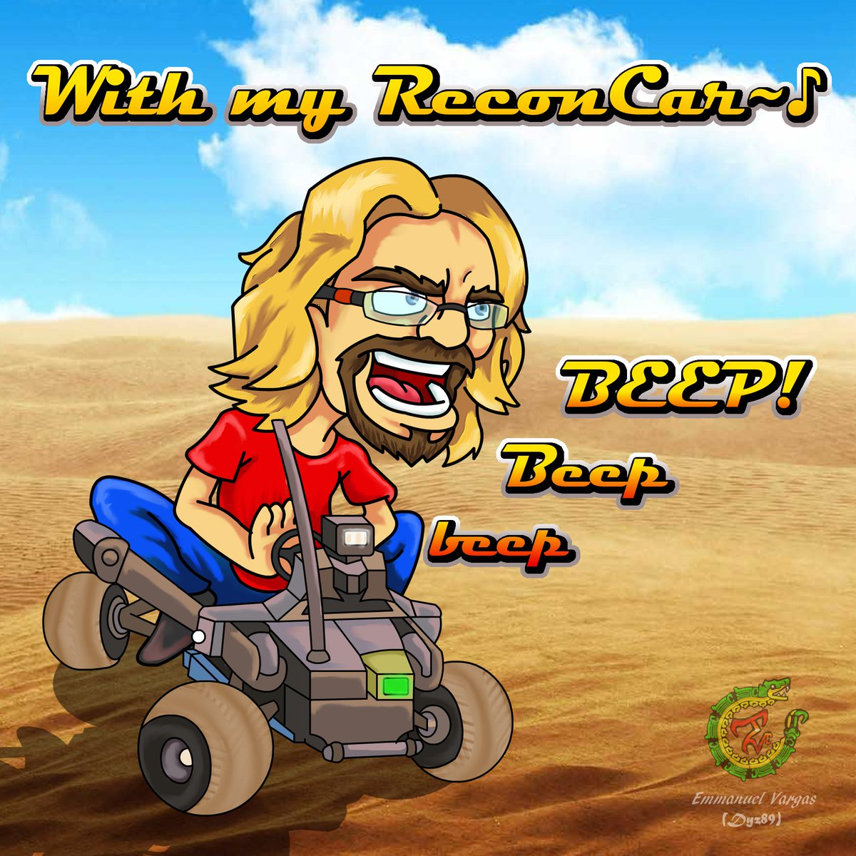 Aaaand finally done! im glad @maximilian_  is still playing Black Out to keep this relevant, still waiting on that Recon Car song remix to show up on youtube though! this is also a thank you for gifting me a Sub, thanks for the inspiration dood! shine on!