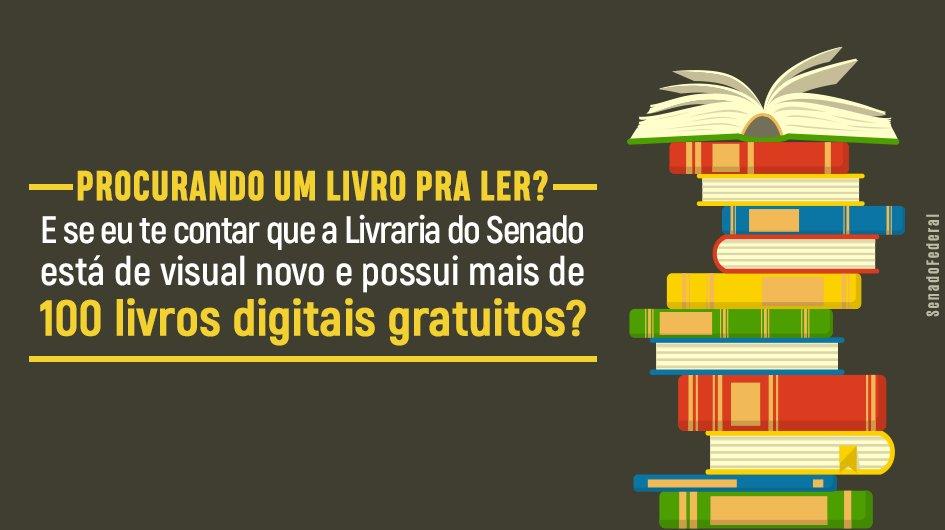 52f1c63a2 De cara nova, site da Livraria do Senado oferece mais de cem livros digitais  gratuitos http://bit.ly/2RXEZcl Acesse a Livraria do Senado: ...