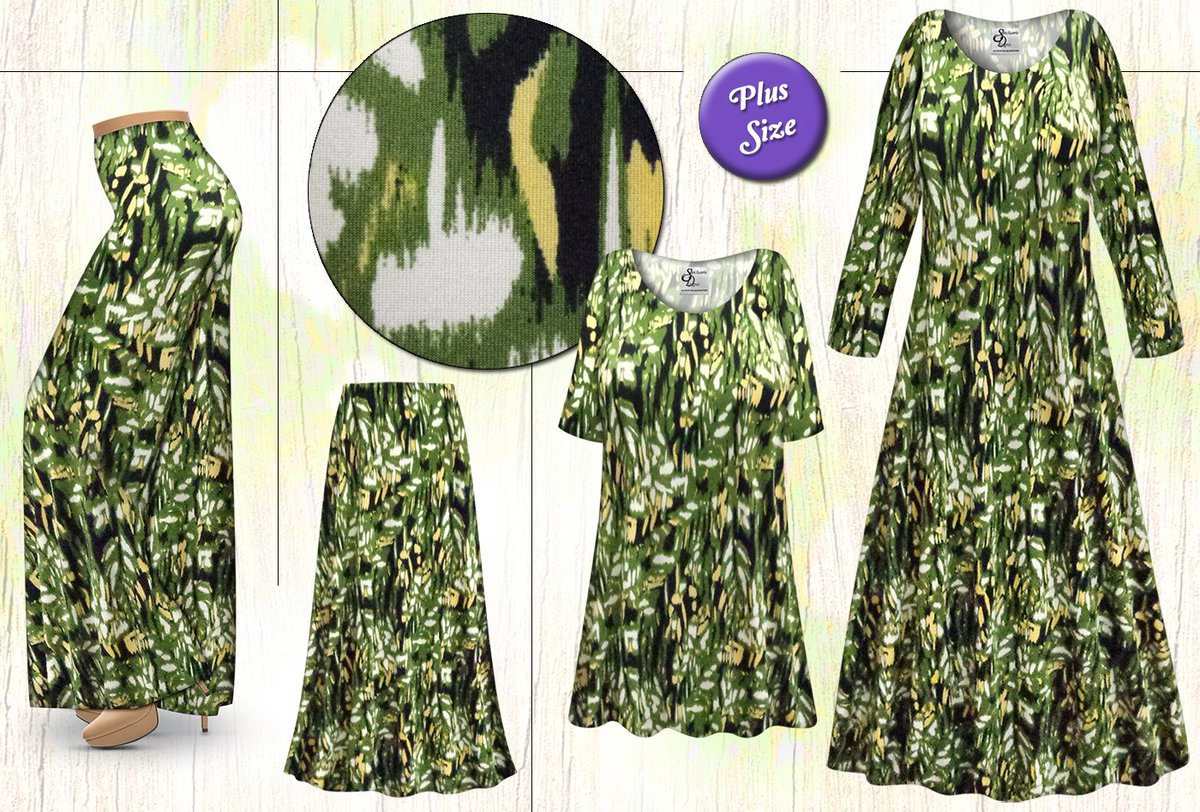 b4e222c48df Another great slinky print! PLUS SIZE Customizable Forest Slinky Print in  Dresses
