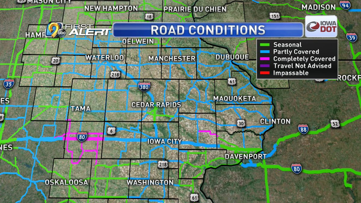Kcrg Tv9 First Alert Weather On Twitter Snow Continues To Blow