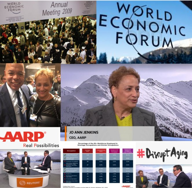 The opportunities and challenges posed by aging populations worldwide are borderless. There's a lot to learn and a lot to share. Glad to be at the World Economic Forum in Davos. #DisruptAging @AARP @wef #Davos2019