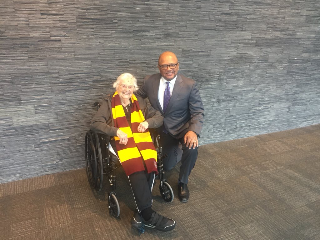 Was honored to speak @LoyolaChicago yesterday as part of that great Jesuit institution's MLK celebration.  What a special surprise to meet Sister Jean too!  We talked about the 2018 Final Four game between my Wolverines @umichbball and her Ramblers! Maybe a rematch this March?