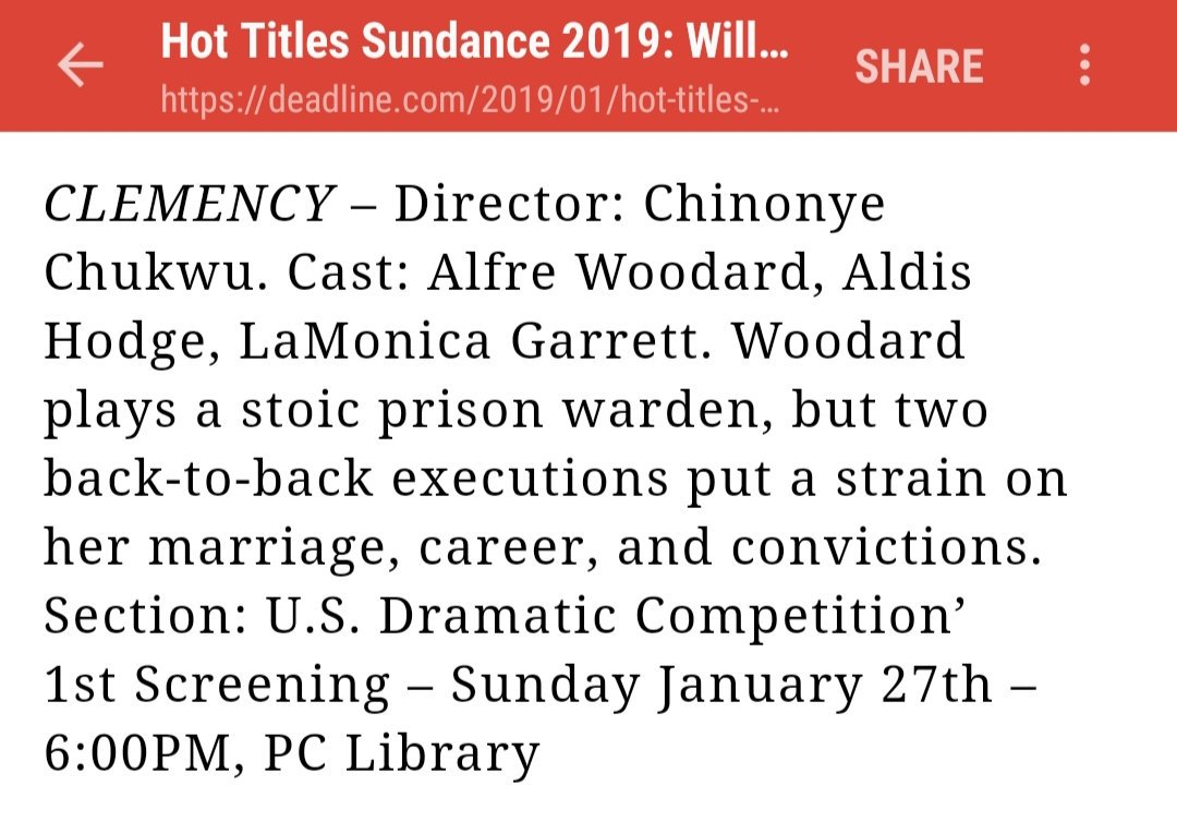 If you're headed to #SundanceFilmFestival2019 check out #clemencythefilm Grateful to be a part of it 🙏🏾