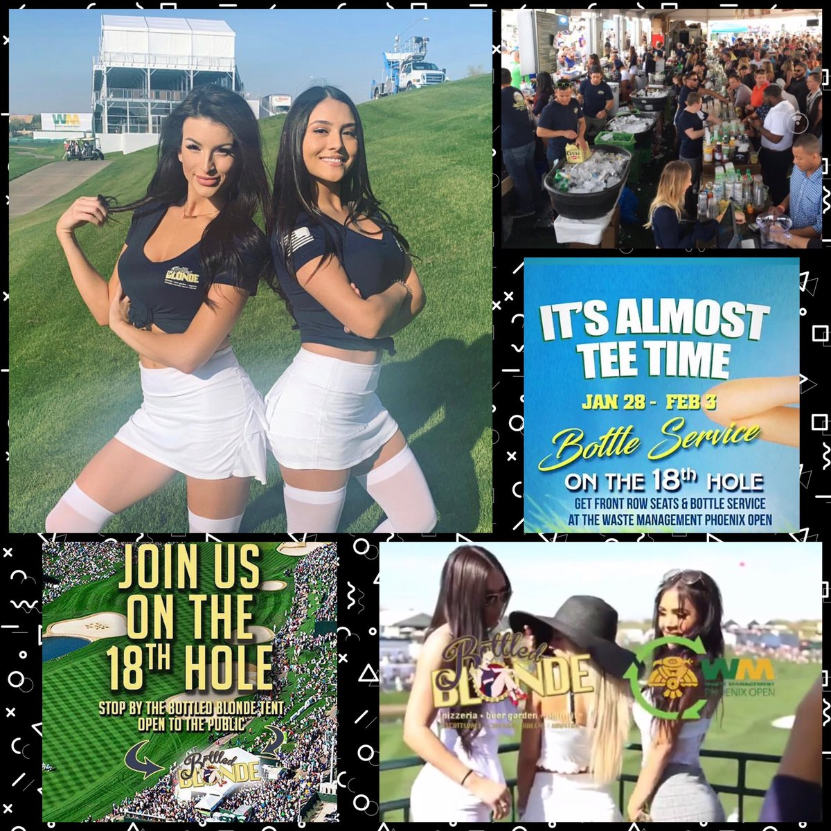 18th Hole @ WMO ~ Bottled Blonde & All Major Events That Week ~ Gem Ray at 480.772.7613 ~ http://ScottsdaleNights.com  #wmphoenixopen #scottsdalenights  @GemRayMedia @ScottsdaleNites