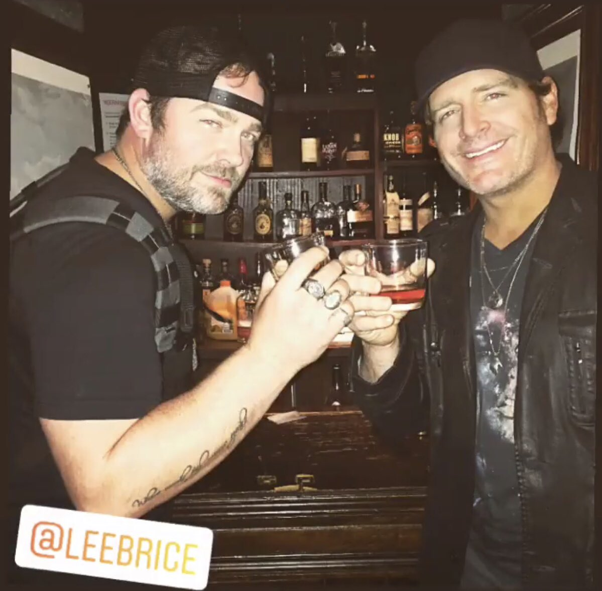 How @leebrice and I like to order our shots... #doubles #cheers #tbt