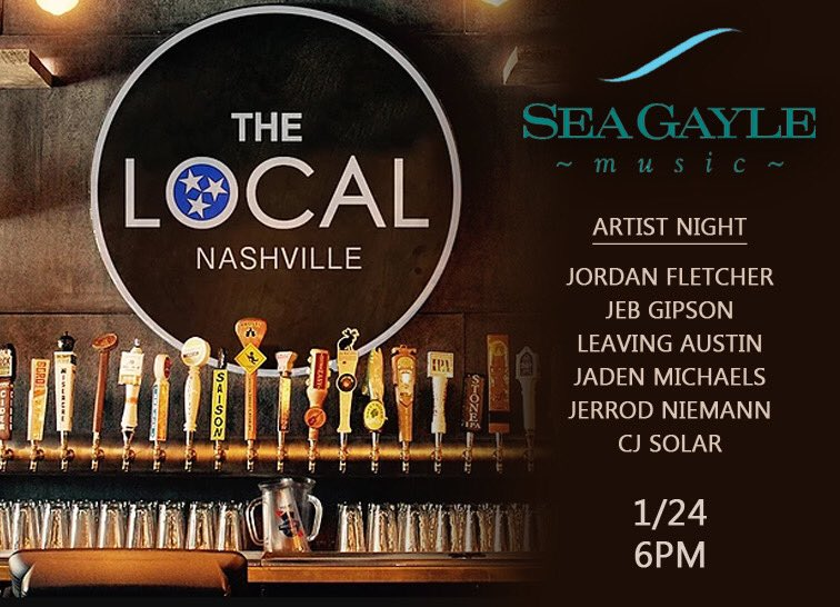 If you're in Nashville, come out tonight and listen to some tunes from myself and my fellow @SeaGayleMusic songwriters. I plan on treating it like it's Saturday night... let's get stupid!