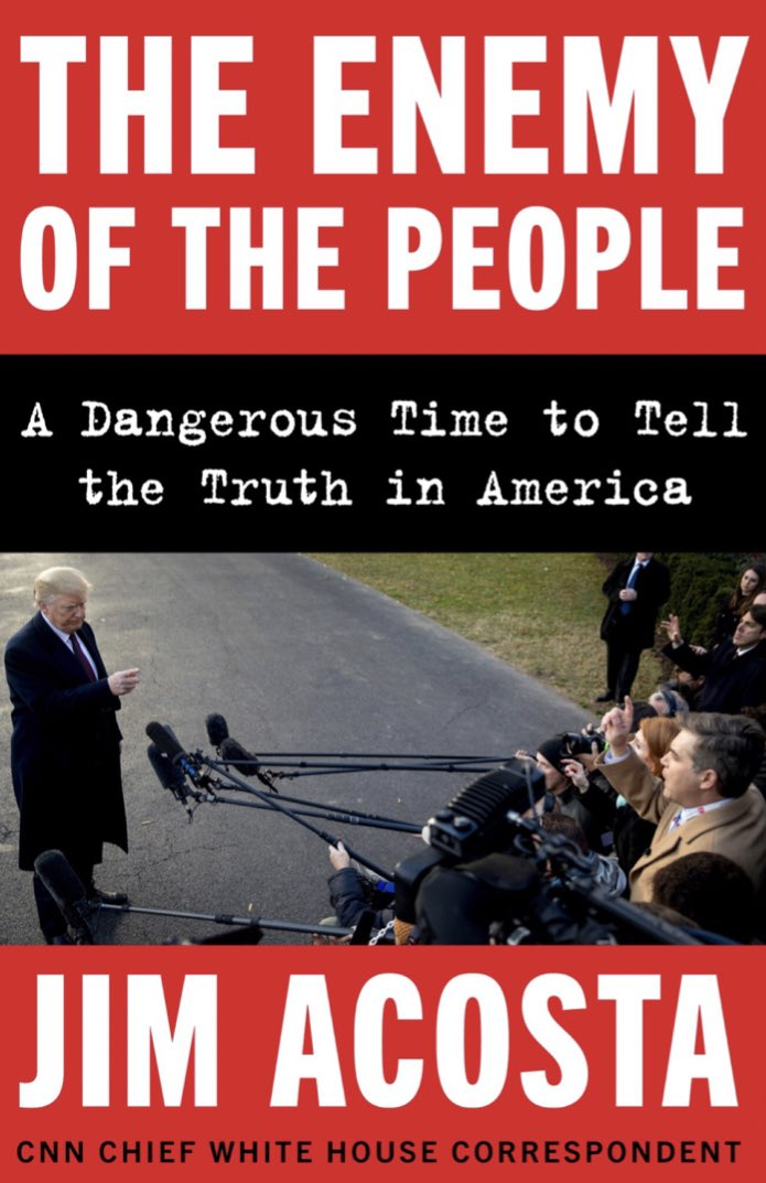 We are not the enemy of the people. And the truth is worth the fight... more coming soon... https://www.harpercollins.com/corporate/press-releases/harper-to-publish-the-enemy-of-the-people-by-cnns-chief-white-house-correspondent-jim-acosta/ …