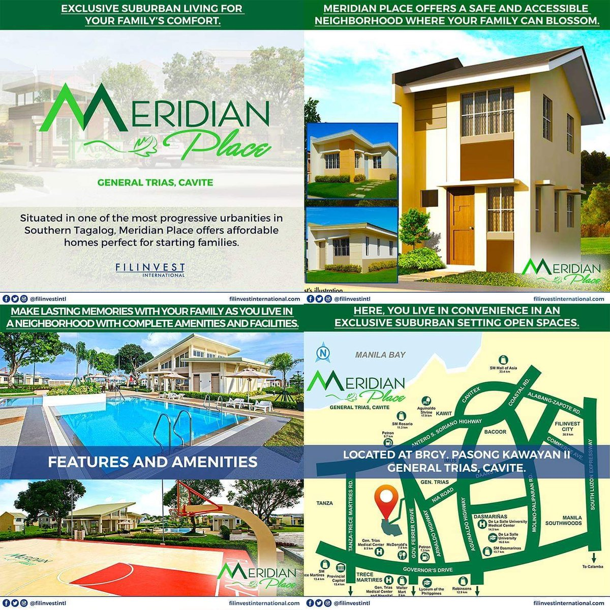 Hi Kabayan,  Meridian Place is a well-designed community where your family can enjoy an exclusive suburban lifestyle at a budget-friendly price. Ensuring that all the features of a community are in place, your family can experience a complete life in a safe and secure haven. https://t.co/9sIM8Rei34