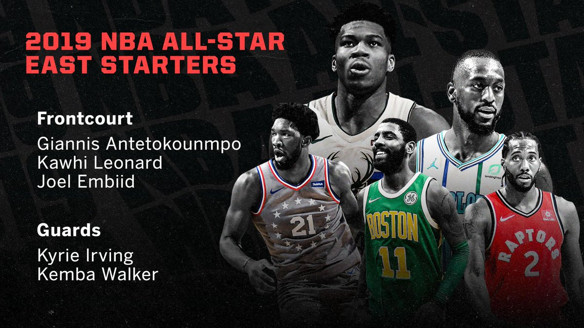 e337f559a20d Here are your 2019  NBAAllStar starters for the  East pic.twitter.com 290xnokjpx. 4 16 PM - 24 Jan 2019