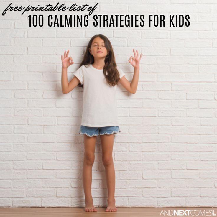 Love this free printable list of calming strategies for kids