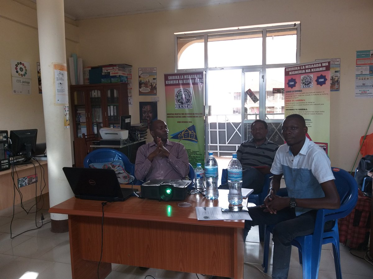 M&E visit from the Foundation for Civil Society......we have  learned alot from this visit.asanteni sana fcs, mr. Mbilinyi. @FCSTZ @Lsac_tanzania