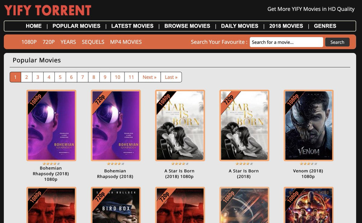 yify torrent new website
