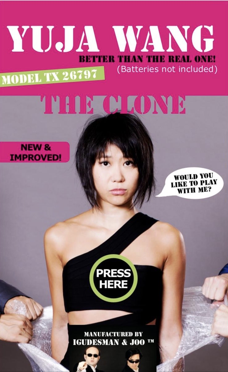 Reloaded twaddle – RT @YujaWang: New & improved.  Yuja Wang, the clone, and @igudesman...