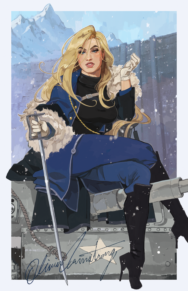 have i told you all lately how much i love olivier armstrong....new print for ECCC! ✨