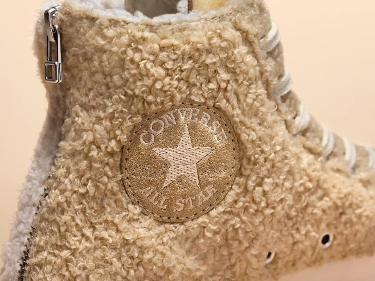 bae83c2d644e clot covered the converse chuck 70 in sherpa fleece