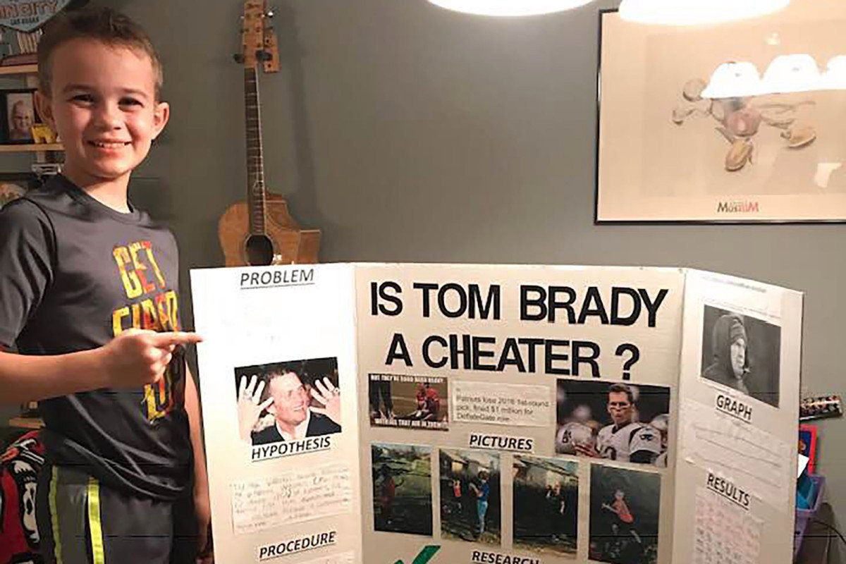 10-year-old proves Tom Brady is a cheater, wins science fair nyp.st/2FYjfqr