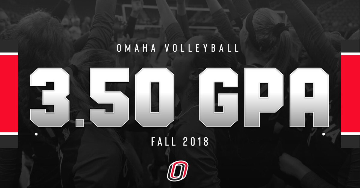 Achieving on the court and in the classroom! 📚👌  🔙2️⃣🔙 semesters with a 3.5+ GPA 6️⃣ members of the Chancellor's List 5️⃣ members of the Dean's List  #EveryoneForOmaha