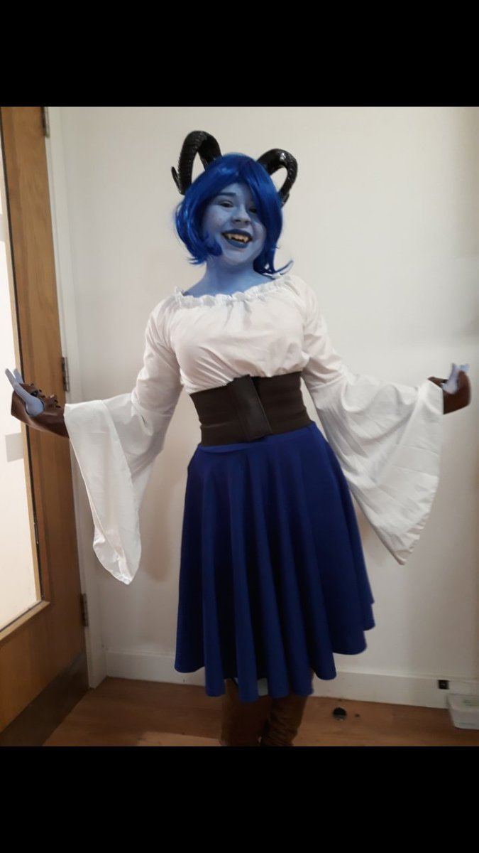 My Cosplay Of At Laurabaileyvos Little Blue Tiefling Jester Lavore