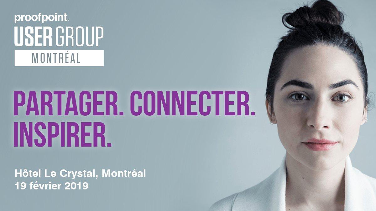 Joignez-vous à nous pour la séance inaugurale du groupe d'utilisateurs Proofpoint de Montréal! Vous aurez l'occasion d'écouter certains des specialists en cybersécurité les plus éminents et de découvrir comment vos pairs exploitent les produits Proofpoint https://go.proofpoint.com/ProofpointUserGroupMontrealFeb19?rbn=social…