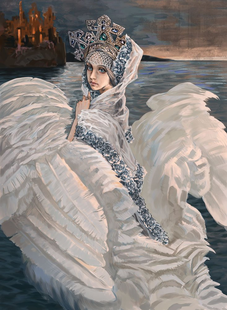 Царица-лебедь в картинках
