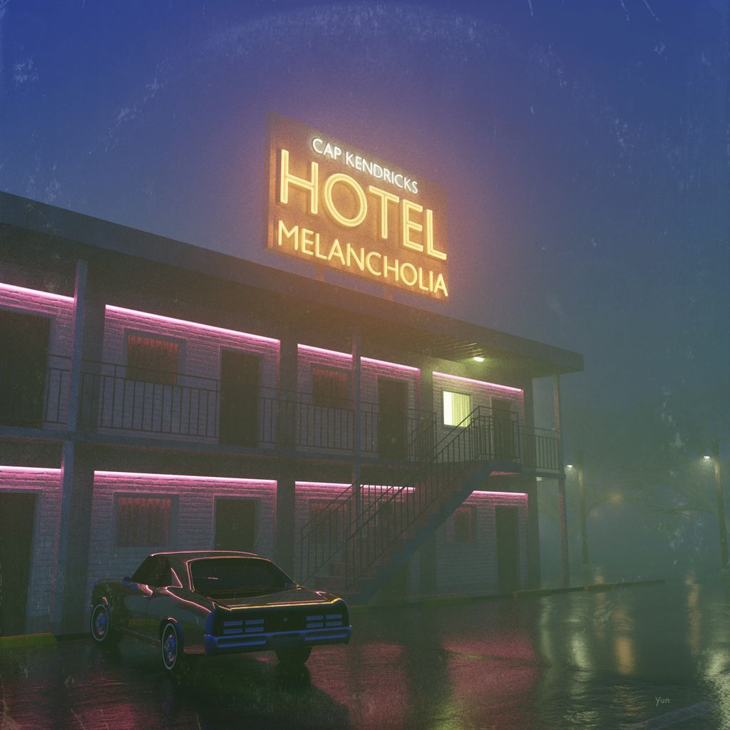 """I'm glad to announce my upcoming release """"Hotel Melancholia""""!  Release date: February 15, 2019. Artwork by Nicolas Yun Christman."""