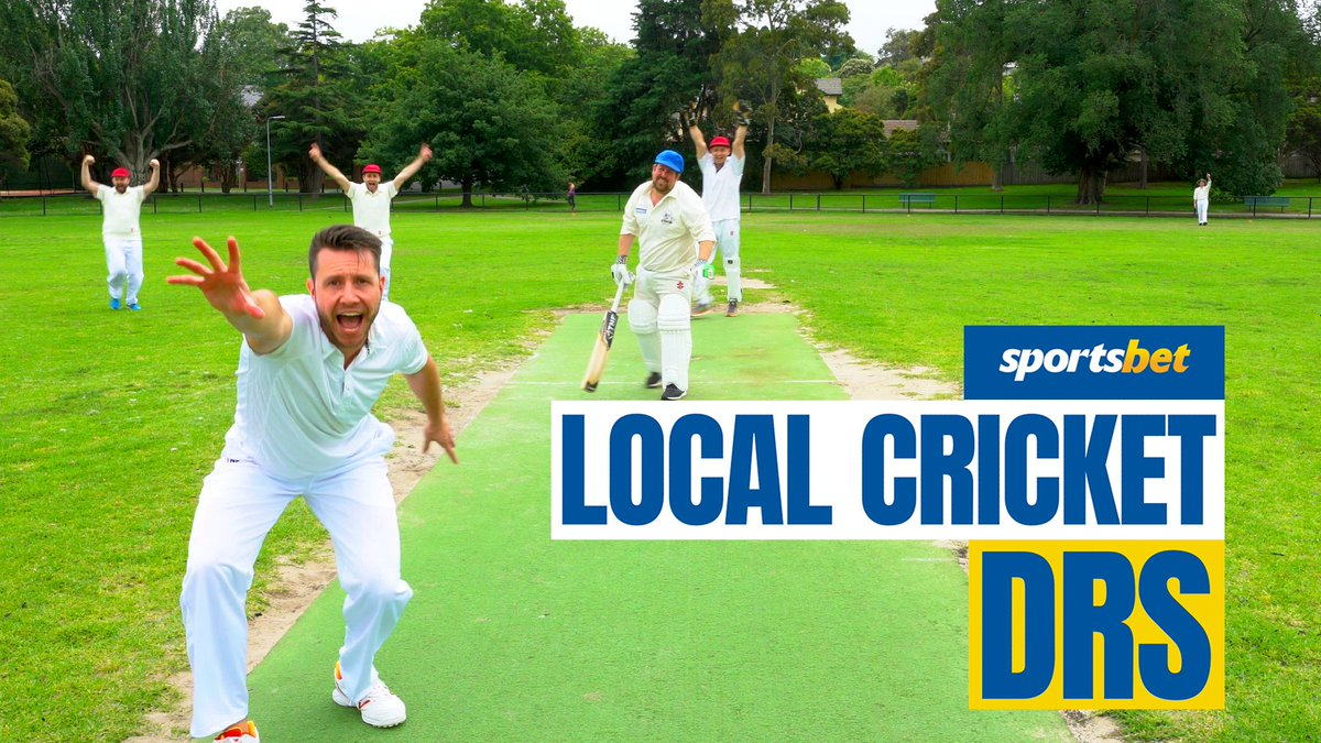 Local cricket DRS - just rock and roll that for me...