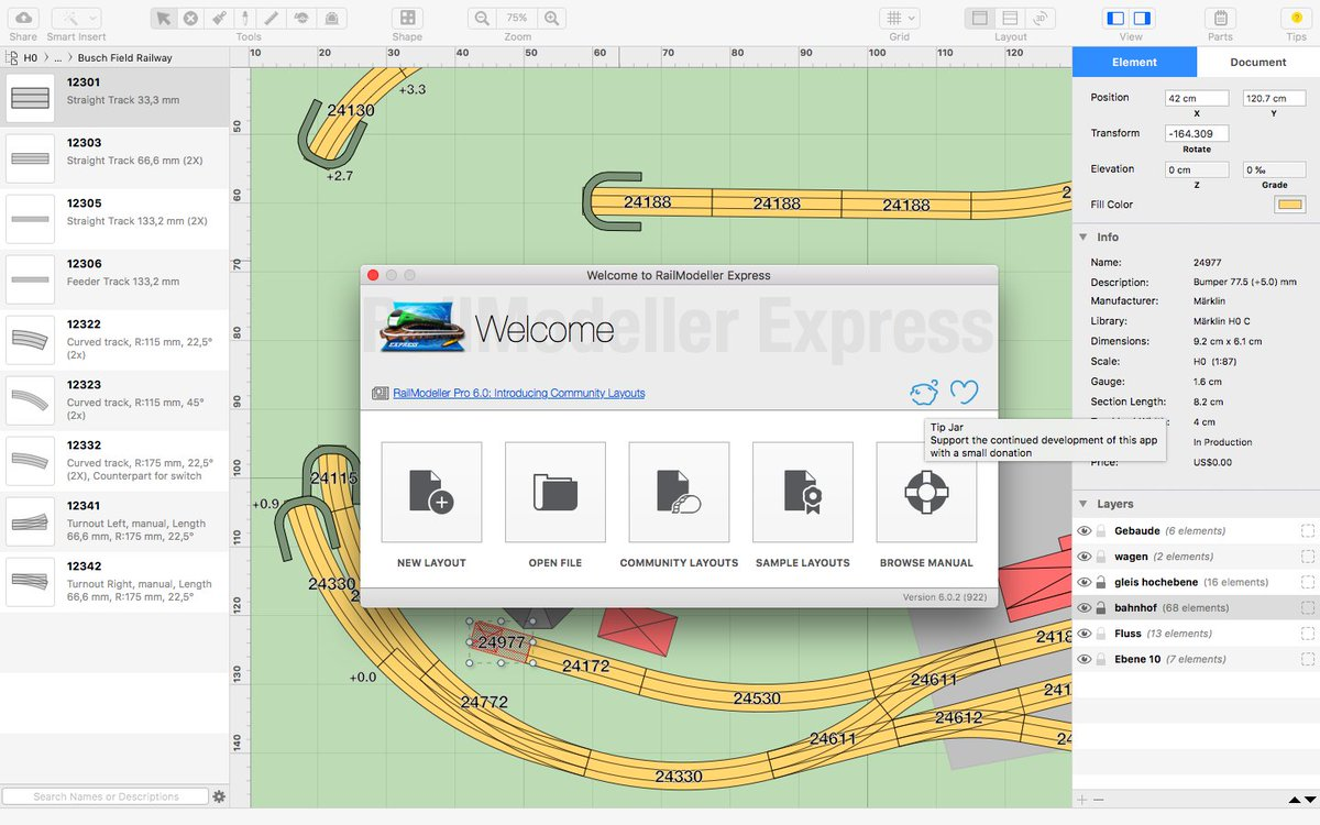 Railmodeller On Twitter Try Our Free Express Edition For Planning Model Train Layouts On Macos Https T Co M97lnineub