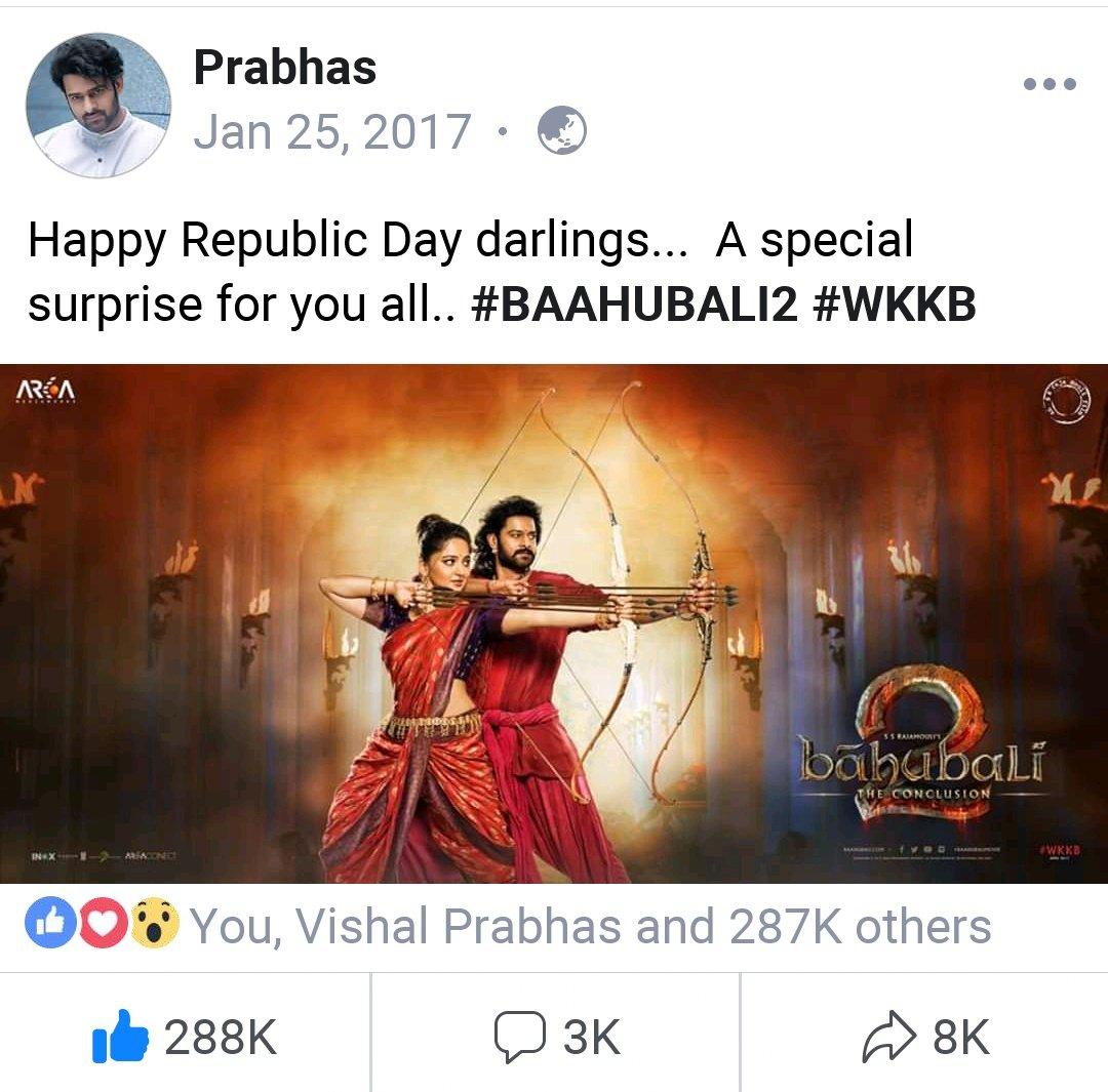 2Yearsfor most trended pic , special surprise, .  #Devasena #AmarenderaBaahubali    #AnushkaShetty #Prabhas    @konavenkat99  garu , Ei republic day special ga  #AnushkaShetty dhi lastest pic ivandi  pls  or movie update ayina ivvandi   #1yearforBBBhaagamathie<br>http://pic.twitter.com/S0I51V6tR5