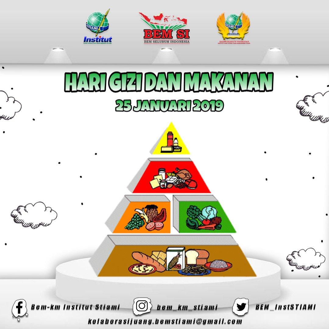 [BEM INFO] [HARI GIZI DAN MAKANAN]  Saat ini Indonesia sangat memerlukan SDM yang tangguh, agar bangsa Indonesia bisa bangking dari keterpurukan akibat krisis multidimensi pada tahun-tahun yang lalu.
