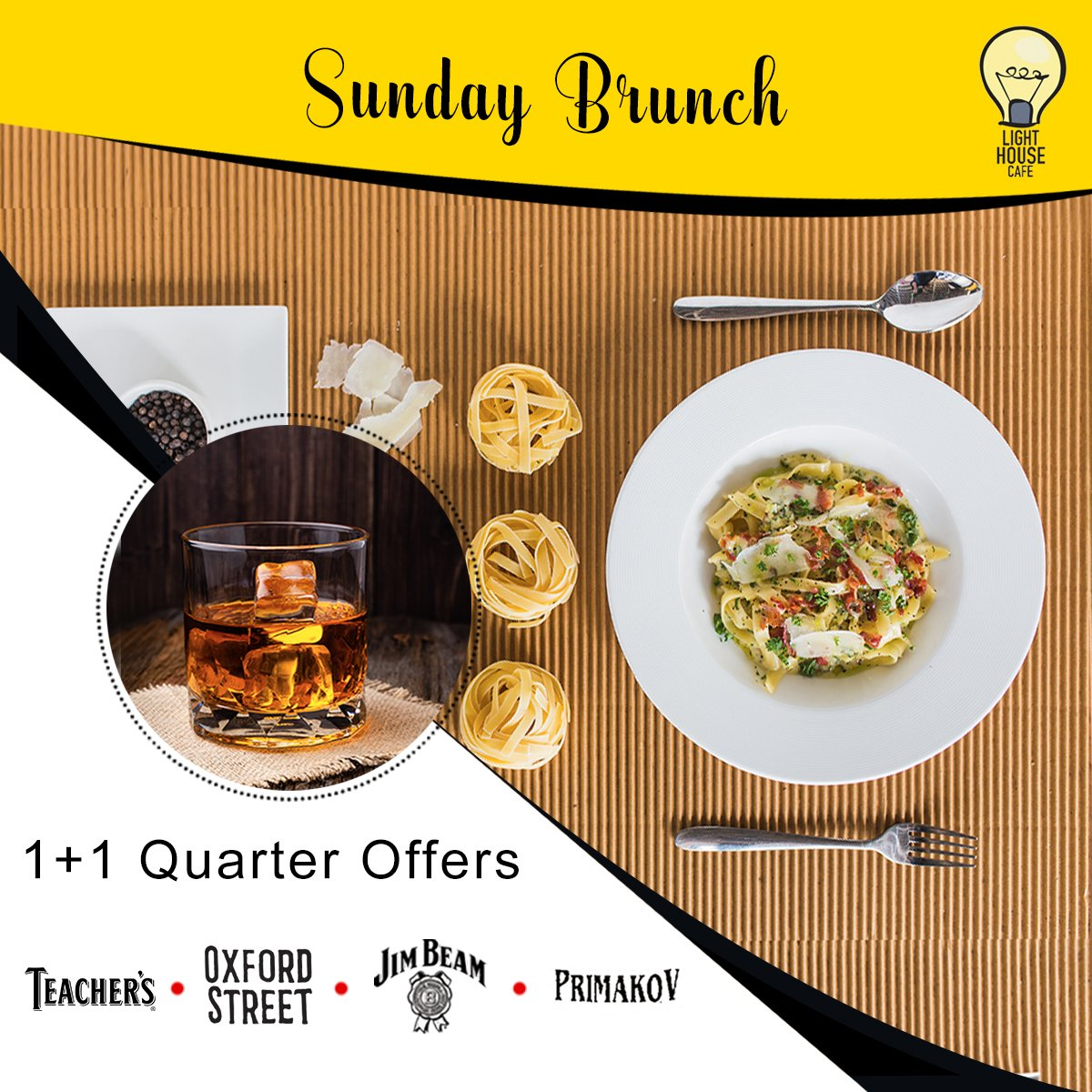 Join us for Sunday Brunch to experience 1 + 1 Quarter Offers at Light House Cafe Mumbai  #LHC #Worli #Mumbai #Zomato #Blogpost #bloggers #Weekday #CurlyTales #Weekends #Thingstodo #Mumbaifoodie #Foodgasm #mumbaifood #indianblogger #dailyfoodfeed #blogspot #Beer #BeerFest