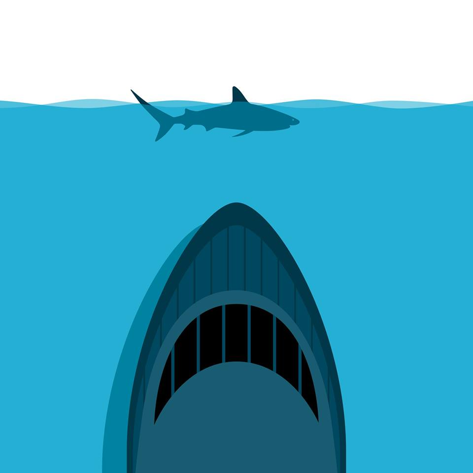 In 2018 six humans were killed by shark attacks. Over 100 million sharks were killed by humans. Sharks belong in the ocean. You can help us keep them there: http://bit.ly/2R2cSUZ Illustration by @PatrickGeorge2 #ExtinctionIsForever #StopSharkKilling