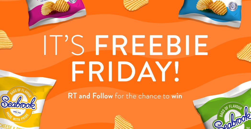 It's Freebie Friday!! #RT & Follow for the chance to #win a box of crisps!  (UK Only) #fridayfeeling