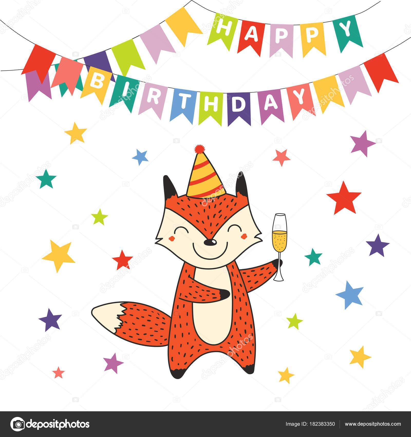 Открытка с лисичками с днем рождения, открытка зима деревне
