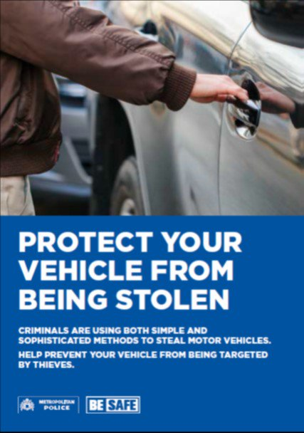 On Wednesday we had a Mercedes stolen from Alliance Close. Please secure your vehicle when left unattended. #MotorVehicleCrime #Besafe #Secureyourvehicle pic.twitter.com/EUwuoQLYiZ
