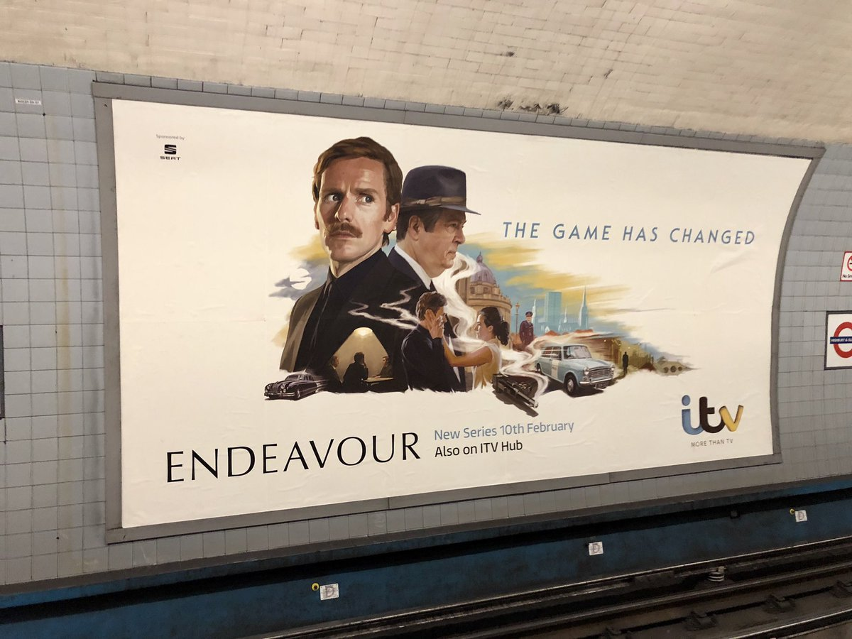 SPOTTED @The_Red_Dress' 48 sheet poster for @ITV's new series of Endeavour. #Illustration #Endeavour #ITV