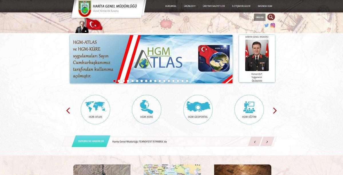 Harita Genel Müdürlüğü Web Sitesi