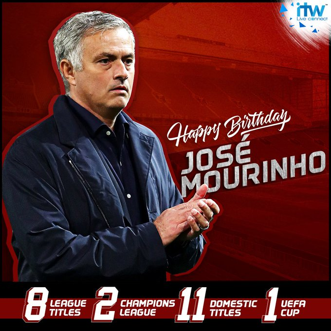 Happy 56th birthday to the one and only, \The Special One,\ Jose Mourinho!