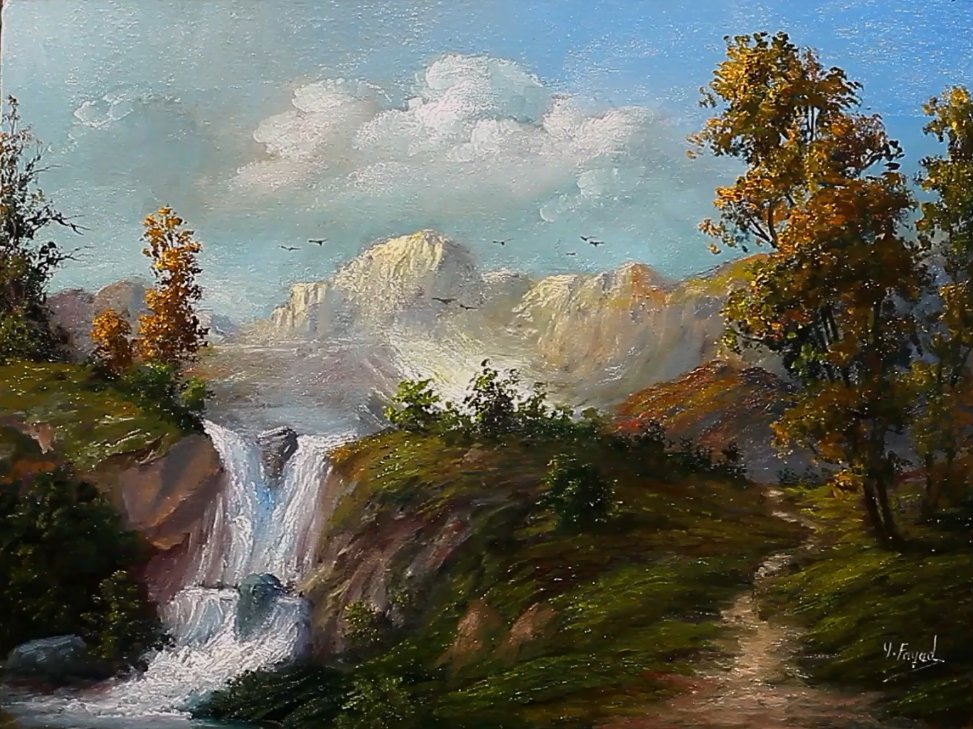 Waterfall Landscape Oil Painting By Yasser Fayad https://t.co/k1MXzXPCyF  via @YouTube https://t.co/1Q4ayFe09X