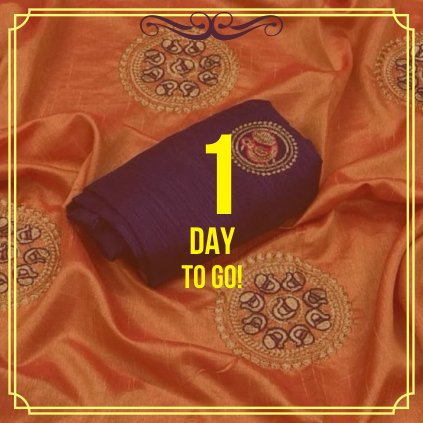 Keep Calm & Countdown!! Only one day to go... Come & Join us the new world of authentic Indian saree collection. #Indiansaree #handloomsaree #authentic #onlineshoping #Shopping #ethnicwear #fabulouslook