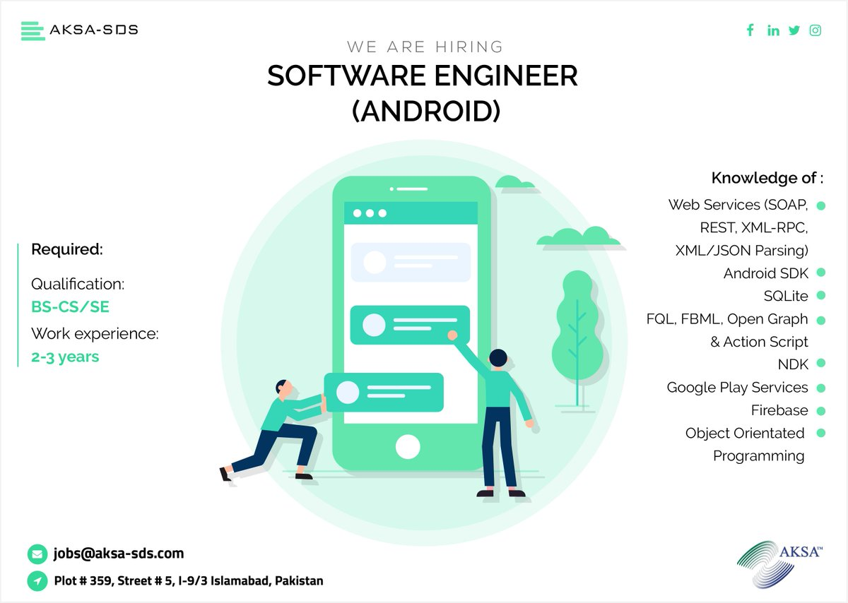 We are hiring Software Engineer Android  Apply Now