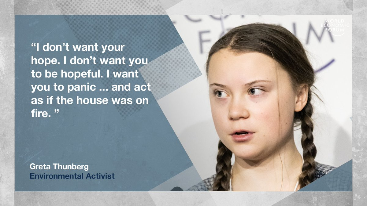 'Our house is on fire.' 16 year-old @GretaThunberg wants action https://t.co/ncDCXz2GTg #wef19