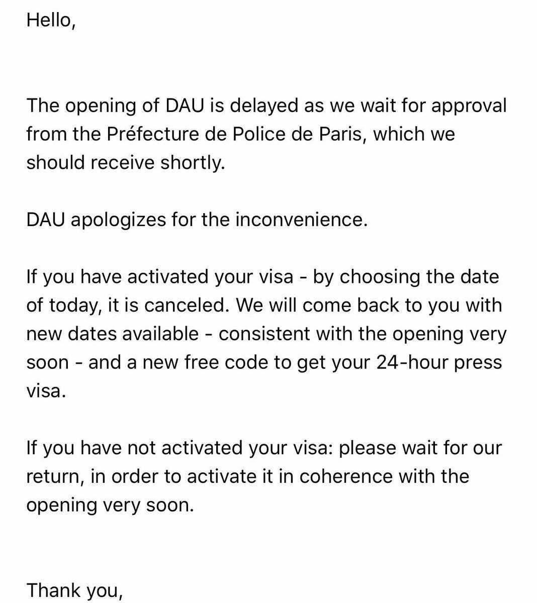 'DAU' Premiere in Paris Is Postponed