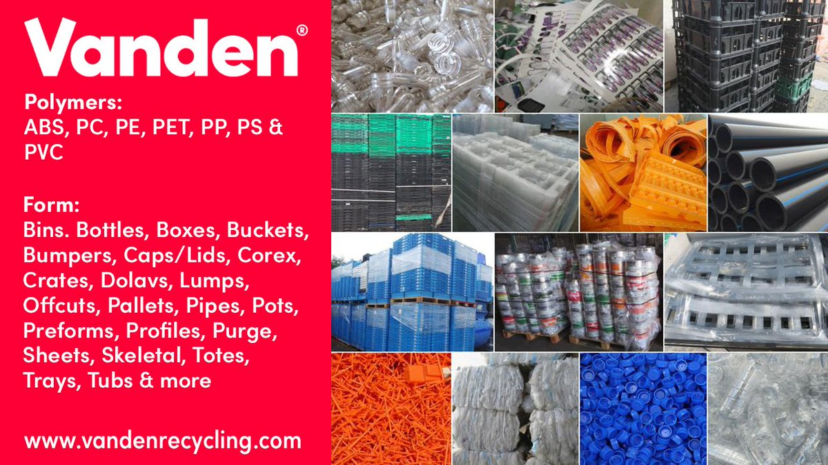 Don't work with a waste management company to deal with your plastic - partner with a specialist. Email: supply@vandenrecycling.com #Vanden #Rethink ...