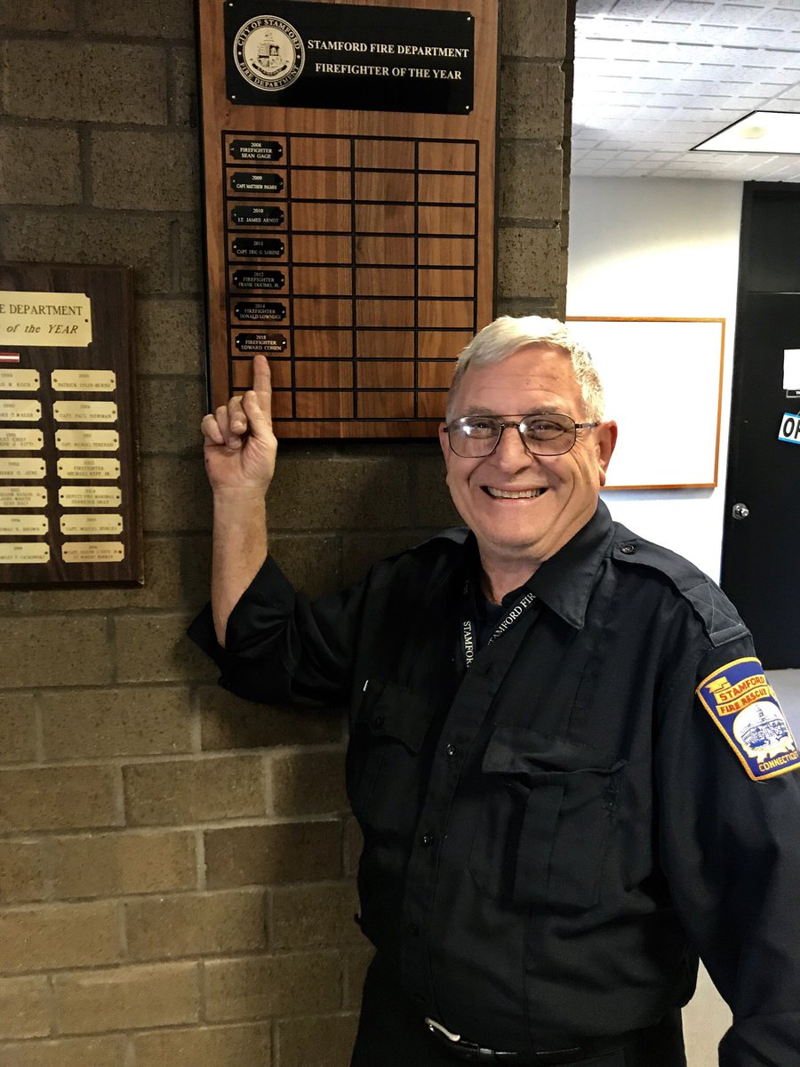 Congratulations to Firefighter Ed Cohen for being named the 2018 Stamford Firefighter of the Year. Firefighter Cohen's name was officially placed on the wall of honor today. Our sincere thanks & gratitude to Firefighter Cohen for his many years of dedicated service.